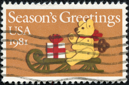 USA - CIRCA 1981: A stamp printed in United States of America shows Season \ photo