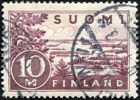 FINLAND - CIRCA 1930  stamp printed by Finland, shows Lake Saima, circa 1930 photo