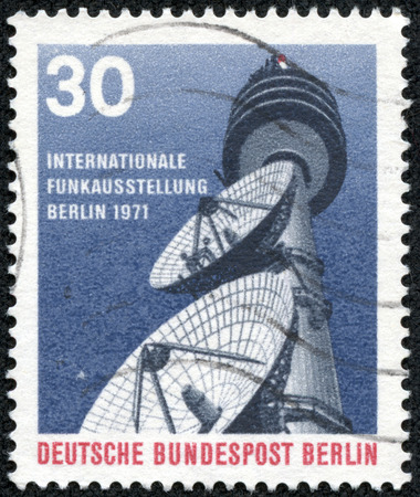 FEDERAL REPUBLIC OF GERMANY - CIRCA 1971: A stamp printed in the Federal Republic of Germany shows Internationall Funkausstellung, Berlin 1971, circa 1971 photo