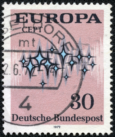 federal republic of germany: FEDERAL REPUBLIC OF GERMANY - CIRCA 1972: A stamp printed in the Federal Republic of Germany shows Europa, circa 1972