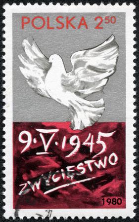 POLAND - CIRCA 1980: A stamp printed in the Poland honoring Victory day, circa 1980 photo
