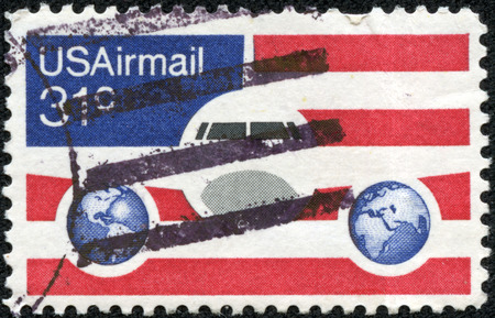 USA CIRCA 1976 A 31 Cent United States Airmail Postage Stamp Shows Image