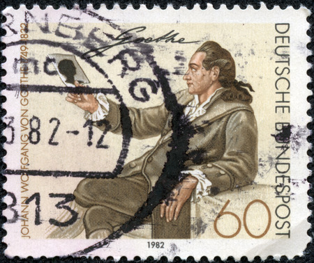 melchior: GERMANY - CIRCA 1982: Postage stamp printed in Germany, shows Johann Wolfgang von Goethe, by Georg Melchior Kraus, circa 1982 Editorial