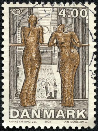 DENMARK - CIRCA 2002: A stamp printed in Denmark shows Contemporary Art