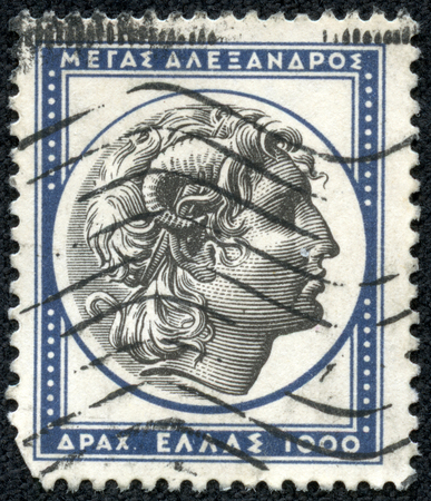 GREECE - CIRCA 1954: A stamp printed in Greece