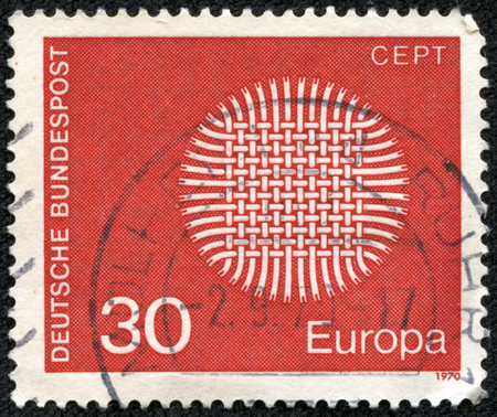 Germany - CIRCA 1970: stamp printed by Germany, shows Europe CEPT emblem, circa 1970 photo