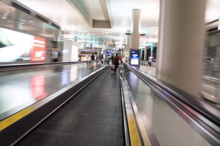escalator ,interior of airport photo