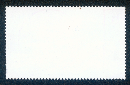 post stamp: post stamp reverse side isolated on black Stock Photo