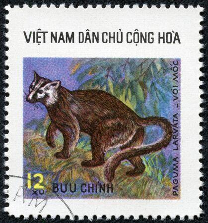 viet nam: VIETNAM - CIRCA 1980: A stamp printed in Vietnam shows squirrel, series is devoted to wild animals, circa 1980