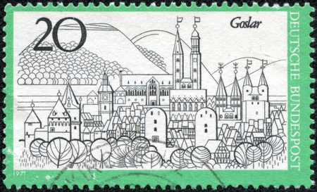 stempeln: Printed in Germany from stamp the Tourism issue shows Goslar Editorial