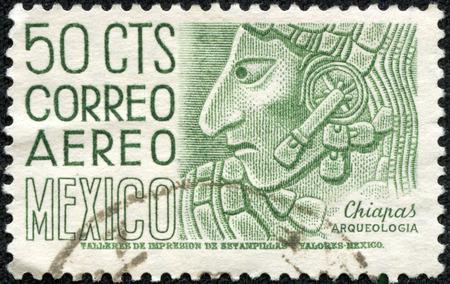 5 月 10 日、中国・重慶 2014:A 切手がメキシコで印刷されたチアパス州, メキシコ, シリーズは、昭和 35 年頃の考古学的発見のイメージを示しています