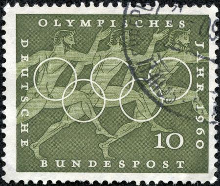 オリンピック年 1960 年 BRD、ドイツ、ミントの条件 報道画像