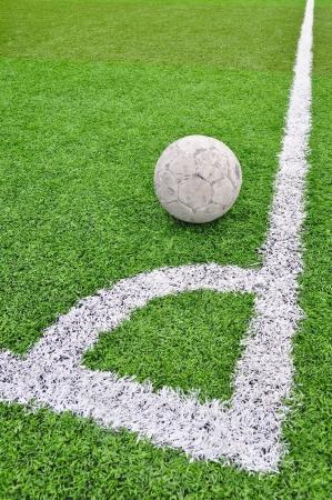 artificial: Artificial grass soccer field