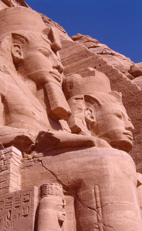 Ramses II statues at Abu Simbel temple entrance