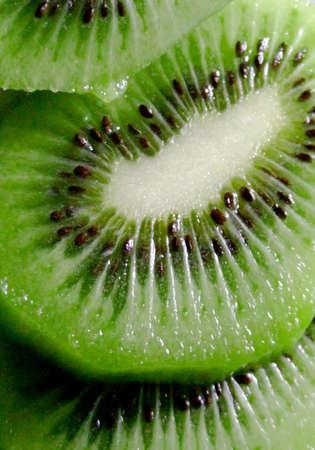 Close-up of a sliced kiwi fruit Stock Photo