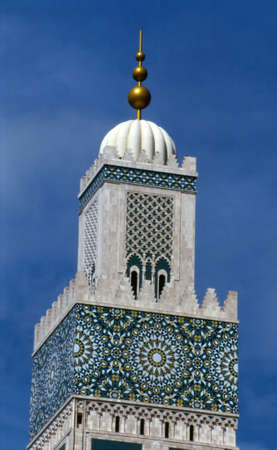 The tallest minaret in the world at the Great Mosque in Casablanca