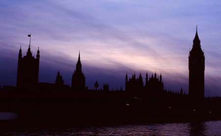 bigben: Silhouette of the House of Parliament