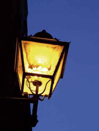 Old street lamp in the evening