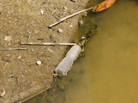 Garbage on a riverside