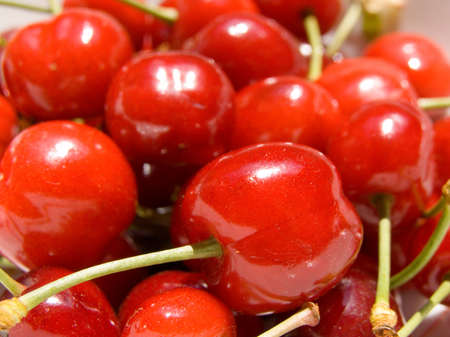 Lot of ripe cherries