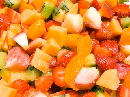 Close-up of a fruit salad Stock Photo