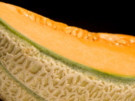 Close-up of a cut melon Stock Photo
