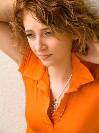 20ish, brown eyes, red hair, caucasian girl