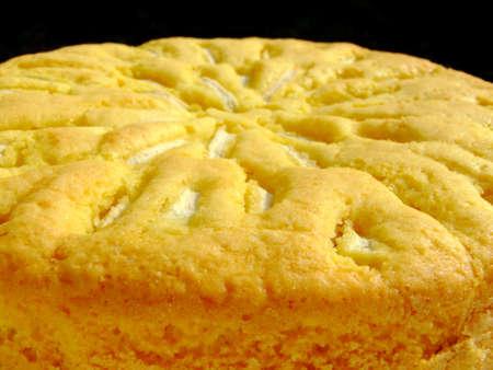 Close-up of a fresh homemade apple cake photo