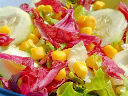 Close-up of a fresh mixed salad