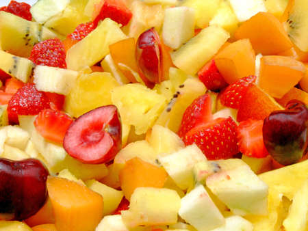 Close-up of an healthy fresh fruit salad