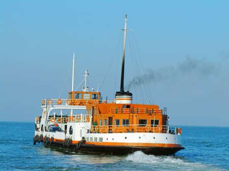 Lisbon ferry-boat cruising on river Tagus