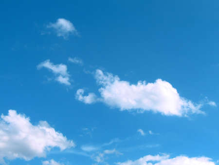 nebulous: Blue sky with white clouds Stock Photo