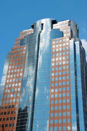Montreal modern skyscraper reflecting the sky  Stock Photo - 3633977