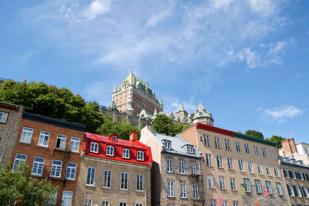 Chateau Frontenac in Quebec City. View from the lower old city