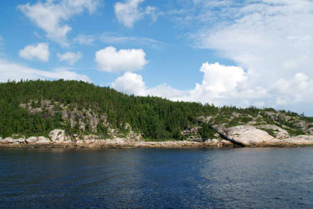 Saguenay Fiord near Tadoussac Stock Photo