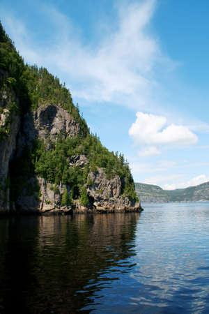 Saguenay Fiord near Tadoussac Stock Photo