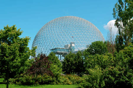 The geodesic dome called Biosphere is a museum in Montreal dedicated to water and the environment. It is located at Parc Jean-Drapeau, on Saint Helens Island in the building of the United States pavilion for the 1967 World Exhibition Expo 67.