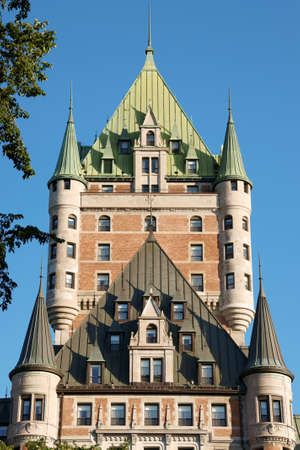 View of the historical Chateau Frontenac in old Quebec City