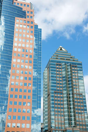 Two skyscrapers in downtown Montreal Stock Photo - 4317586