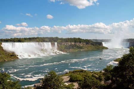 American Falls and Horseshoe Falls on Niagara river Stock Photo - 4932211