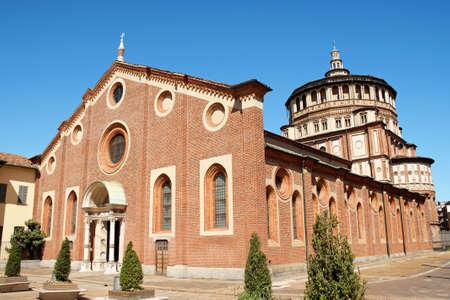 Dominican Convent and Church of Santa Maria delle Grazie  Stock Photo