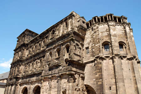 The Porta Nigra is a 2nd-century Roman city gate in Trier, Germany.
