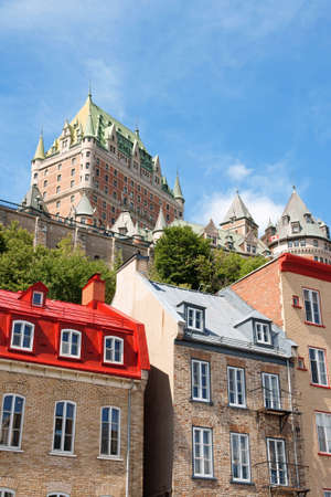 Chateau Frontenac in Quebec City. View from the lower old city.