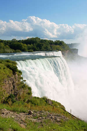 Niagara Falls on the United States of America border in summer Stock Photo - 7142951