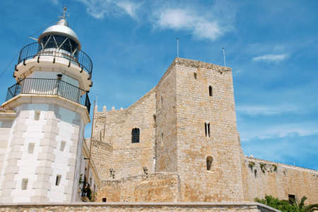 View of Pope Lunas Castle in Peniscola, Valencia Province, Spain. In this castle lived the last Pope after the western schism from Rome, Benedict XIII or Pope Luna. photo