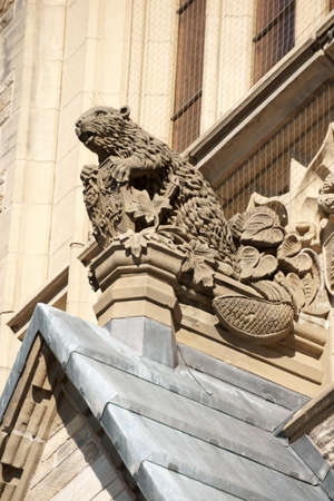 Detail of Canadian Parliament building in Ottawa.