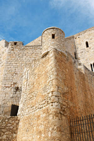 Detail of Pope Lunas Castle in Peniscola, Valencia Province photo