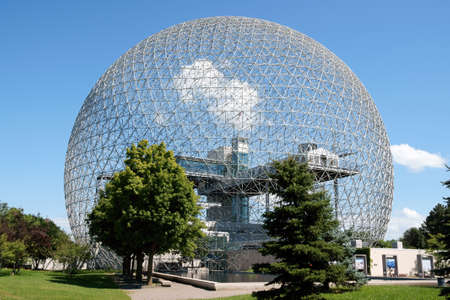 The geodesic dome called Biosphère is a museum in Montreal dedicated to water and the environment. It is located at Parc Jean-Drapeau, on Saint Helen