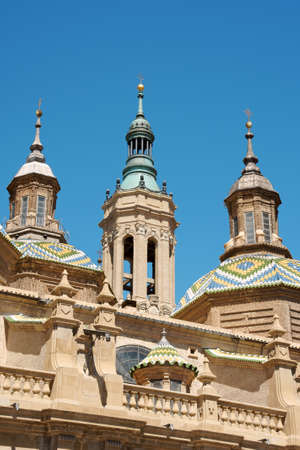 Basilica-Cathedral of Our Lady of the Pillar in Zaragoza is supposed to be the first dedicated to Holy Mary. The first church on this site was Romanesque, the construction of the present one, in Baroque style was begun in 1681 by Charles II, King of Spain