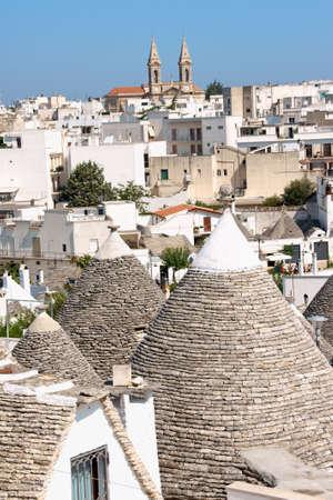 glimpse: Glimpse of Alberobello, Apulia, Italy Stock Photo